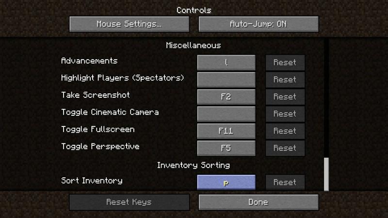 Inventory Sorting Mod Screenshot 3