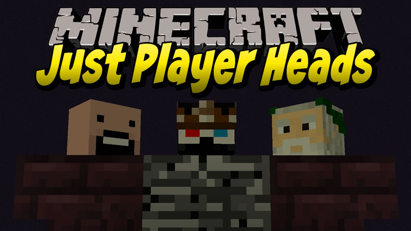 Just Player Heads Mod for Minecraft