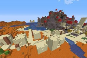 Mushroom Biome and Around Mesa Seed for Minecraft 1.16.2
