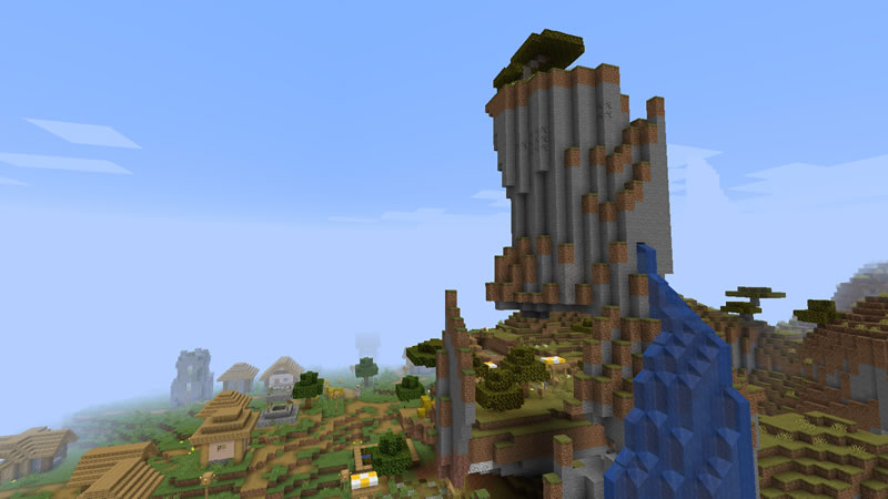 Savanna Mountain and Four Villages Seed for Minecraft 1.16.3