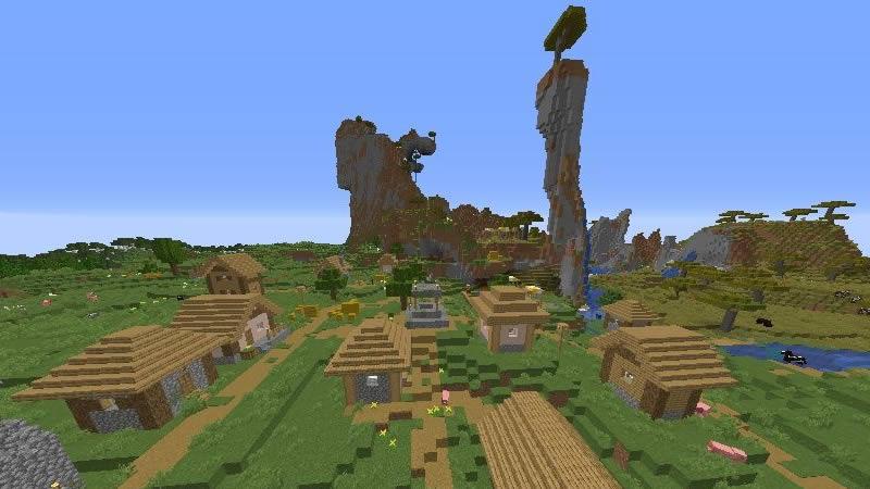 Savanna Mountain and Four Villages Seed Screenshot