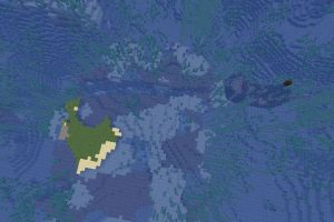 Small Island with Mineshaft Seed for Minecraft