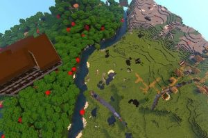 Two Villages and Two Woodland Mansions Seed for Minecraft