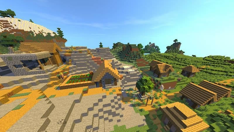 Two Villages and Two Woodland Mansions Seed Screenshot