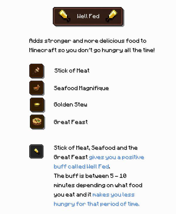 Well Fed Mod Screenshot 2