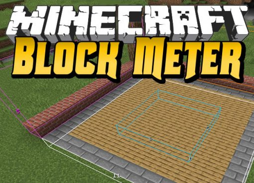 Block Meter Mod for Minecraft