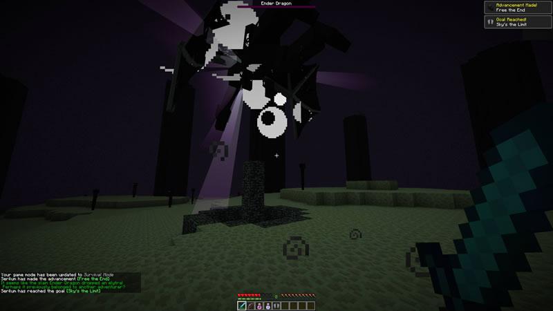 Dragon Drops Elytra Mod Screenshot