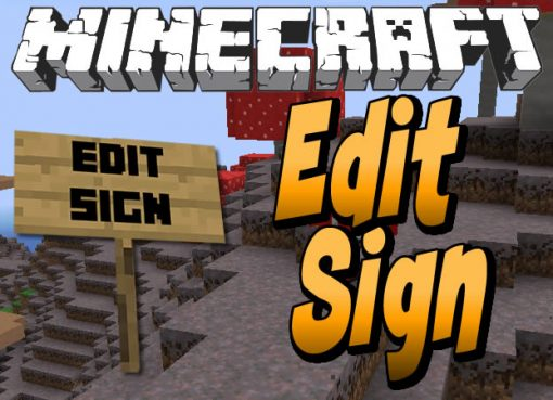 Edit Sign Mod for Minecraft