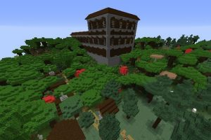 Four Villages and Mansion Seed for Minecraft
