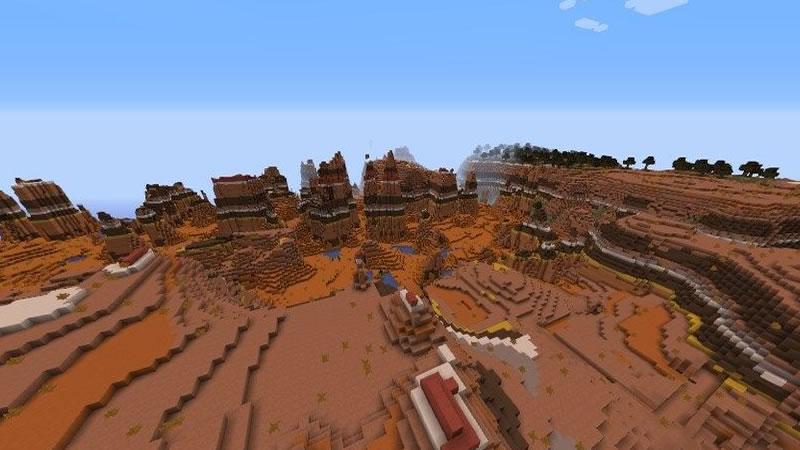 Many Mineshafts in Mesa Plateau Seed Screenshot