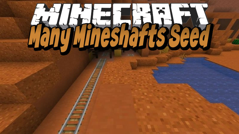 Many Mineshafts in Mesa Plateau Seed for Minecraft