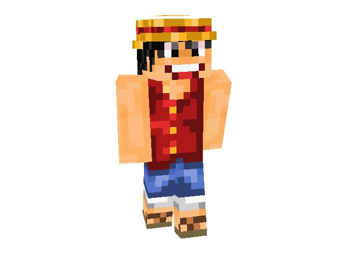 Monkey D. Luffy (Straw Hat) Skin | Minecraft Anime Skins