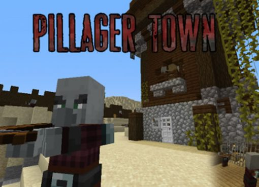 Pillager Town Map for Minecraft