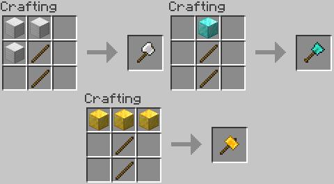 Practical Tools Mod Crafting Recipes