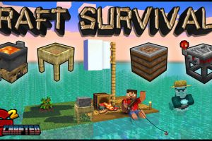 Raft Survival Map for Minecraft