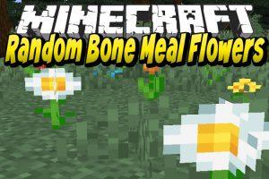 Random Bone Meal Flowers Mod for Minecraft