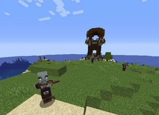 Small Island With Pillager Outpost Seed for Minecraft