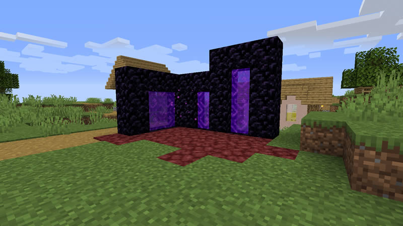 Smaller Nether Portals Mod Screenshot