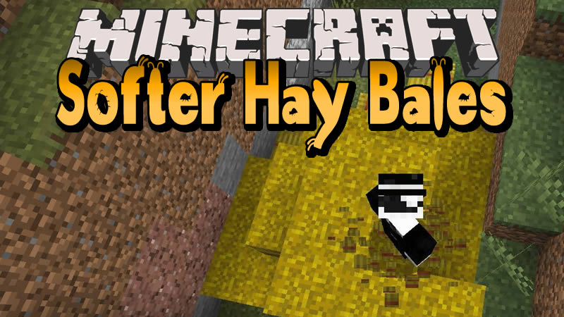 Softer Hay Bales Mod for Minecraft