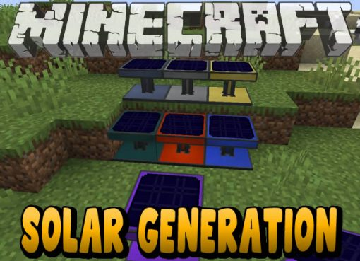 Solar Generation Mod for Minecraft