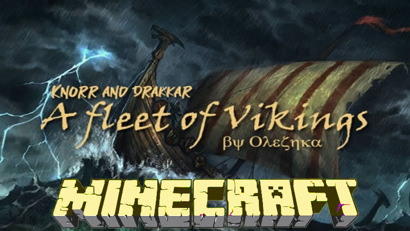 A fleet of Vikings Map for Minecraft