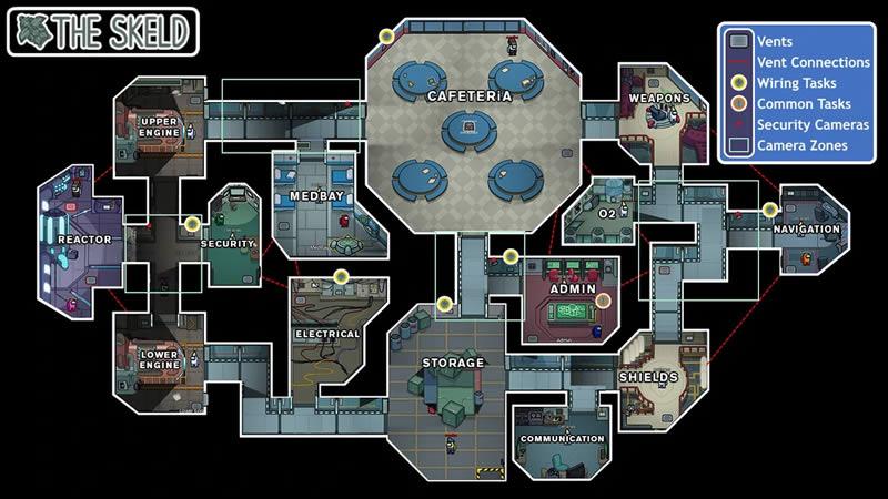 Among Us The Skeld Map Screenshot