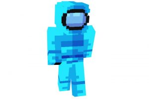 Among Us Blue Crewmate Skin for Minecraft