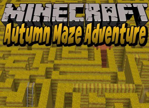 Autumn Maze Adventure Map for Minecraft