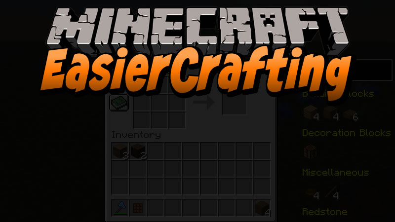 EasierCrafting Mod for Minecraft