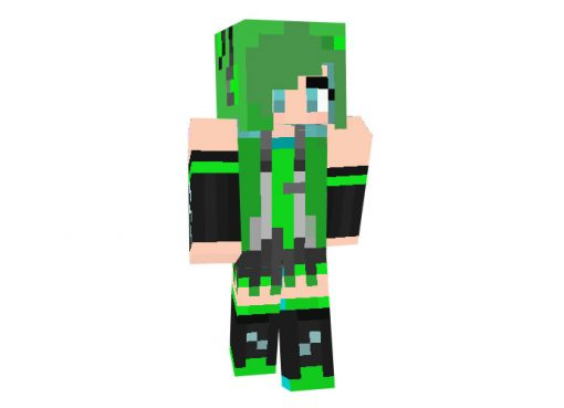 Green Hatsune Miku skin for Minecraft Girl