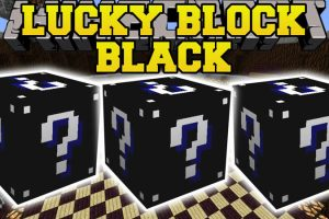 Lucky Block Black Mod for Minecraft