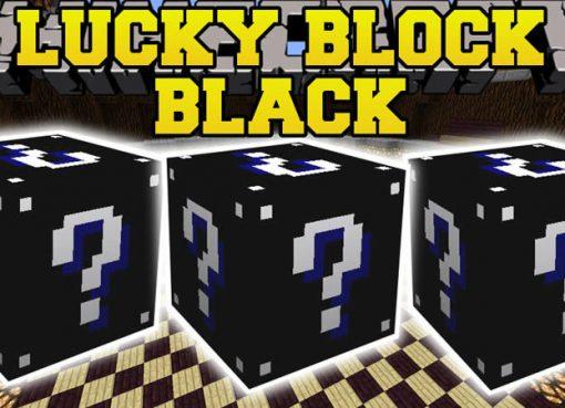 Lucky Block Black Mod for Minecraft