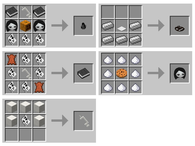 Missing Halloween Mod Crafting Recipes