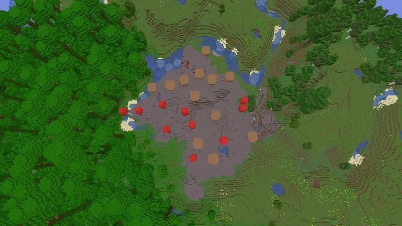 Tiny Mushroom Biome Seed for Minecraft