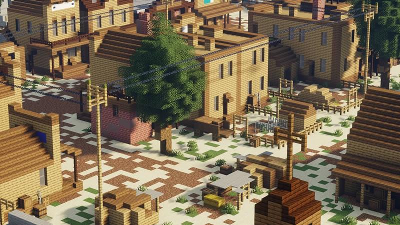 Wild West Railroad Town Map Screenshot