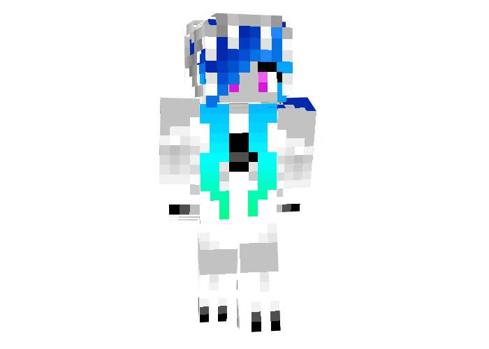 Winter Dragon Girl Skin for Minecraft
