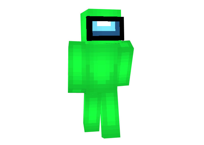 Among Us Green Crewmate Skin for Minecraft