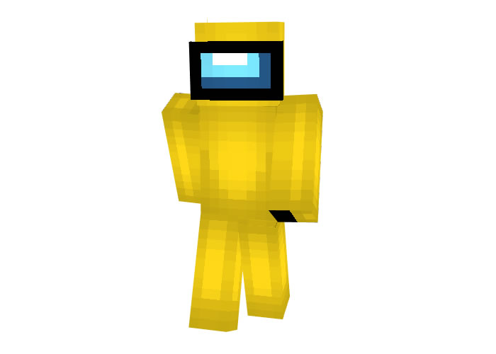 Among Us Yellow Crewmate Skin for Minecraft
