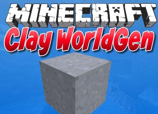 Clay WorldGen Mod for Minecraft