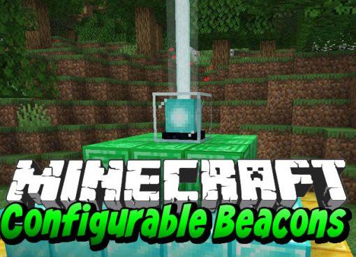 Configurable Beacons Mod for Minecraft