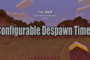 Configurable Despawn Timer Mod for Minecraft