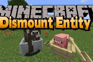 Dismount Entity Mod for Minecraft