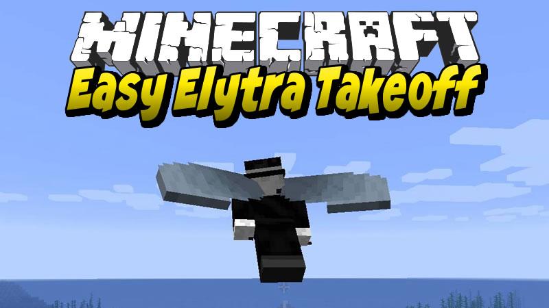 Easy Elytra Takeoff Mod for Minecraft