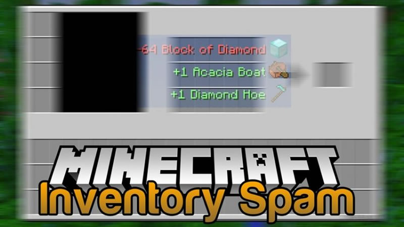 Inventory Spam Mod for Minecraft