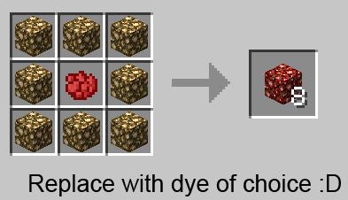 Mo Glowstone Mod Crafting Colored Glowstone Recipe