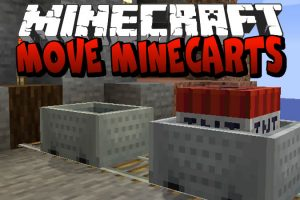 Move Minecarts Mod for Minecraft