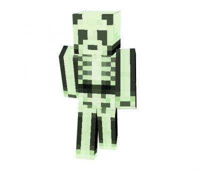 Spooky Panda Skin for Minecraft
