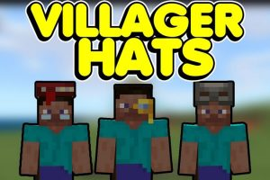 Villager Hats Mod for Minecraft