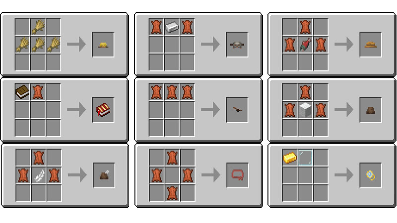 Villager Hats Mod Crafting Recipes