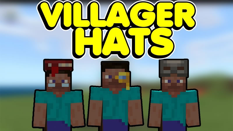 Villager Hats Mod for Minecraft